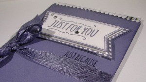 Just For You Treat Bag Card