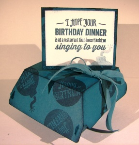 Birthday Hamburger Box