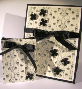 Timeless Elegance with Black Glimmer Paper