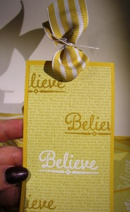 Believe Bookmark with Lighthearted Leaves
